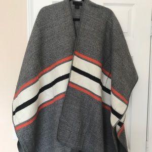 Steve Madden Striped Color Block Poncho